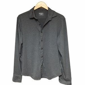 Untuckit Men's Grey Button Front Small